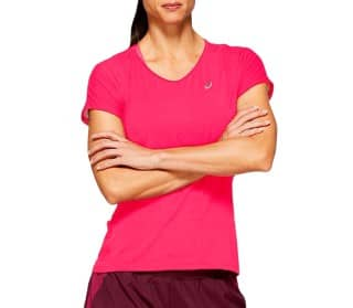 V-Neck Ss Women Running Top