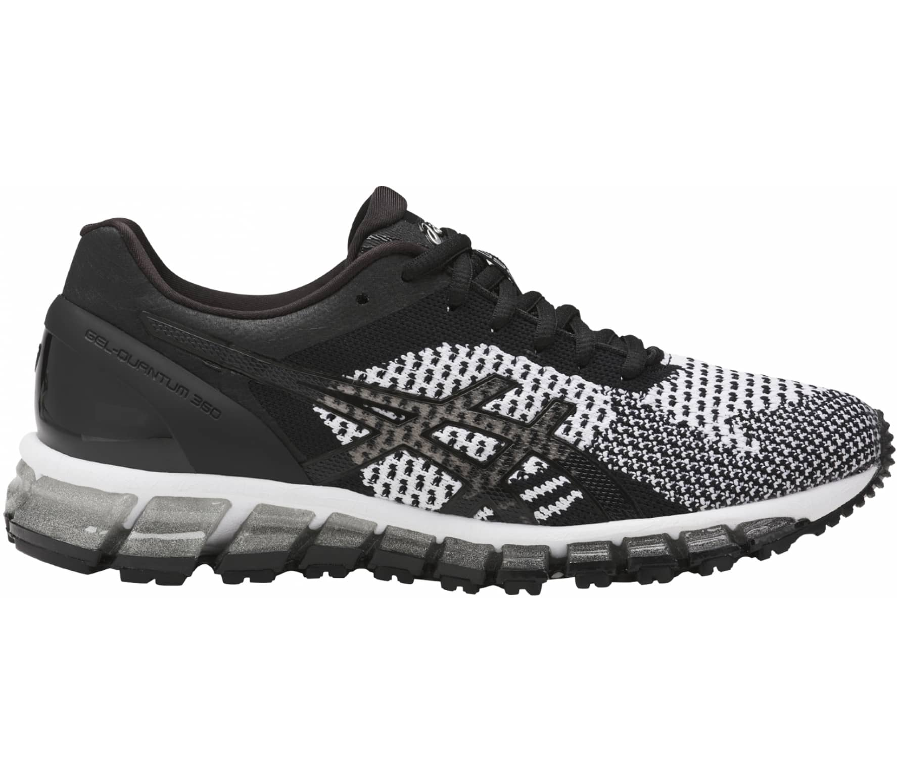 new style 6bee8 10d93 Asics - Gel-Quantum 360 Knit women s running shoes (black white)