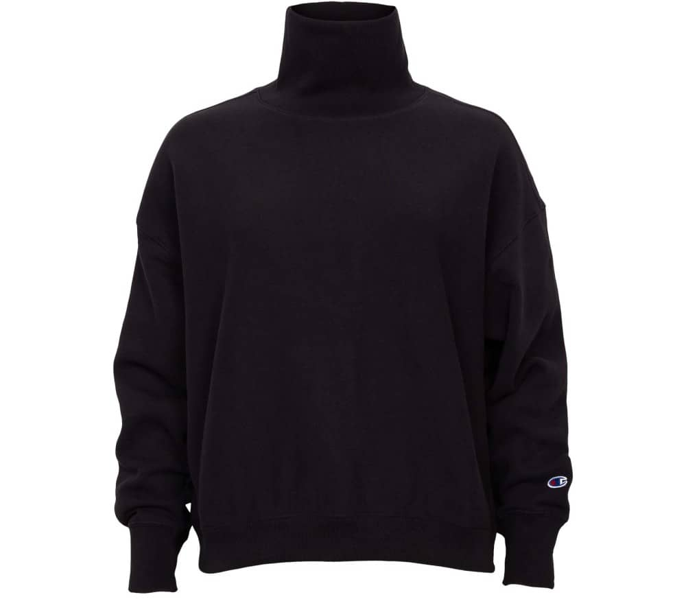 Reverse Weave Brushed Fleece High Neck Damen Sweatshirt