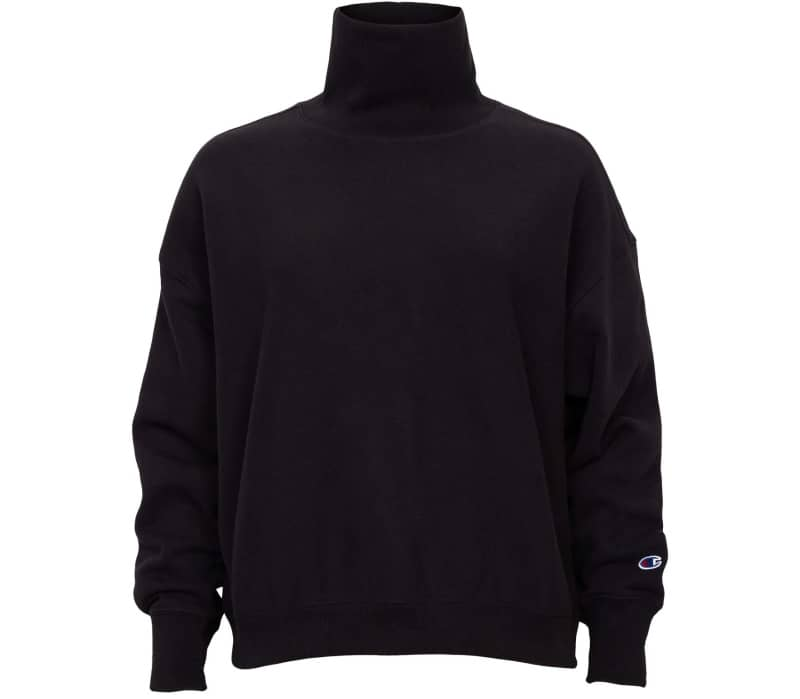 Reverse Weave Brushed Fleece High Neck Dames Sweatshirt