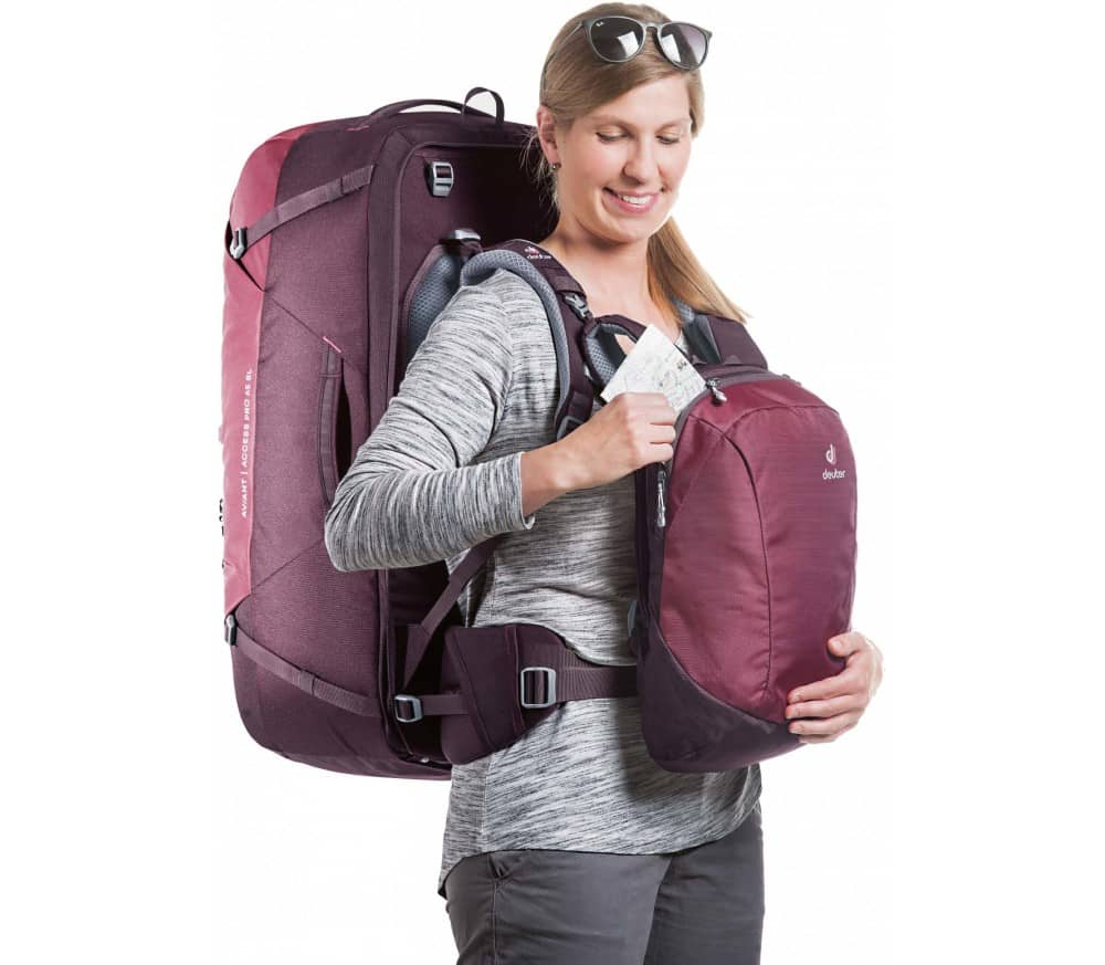 Deuter Aviant Access Pro 65 SL Women Travel Bag red