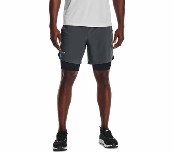"UNDER ARMOUR Launch SW 7"" 2n1 Men Running Shorts - 1"