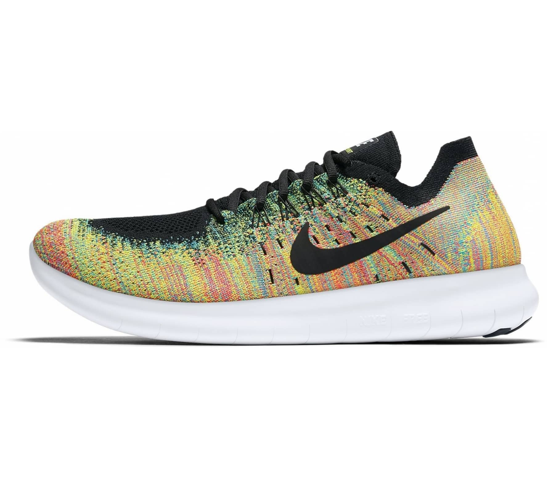 Nike - Free Run Flyknit 2017 Herren Laufschuh (orange/gelb)