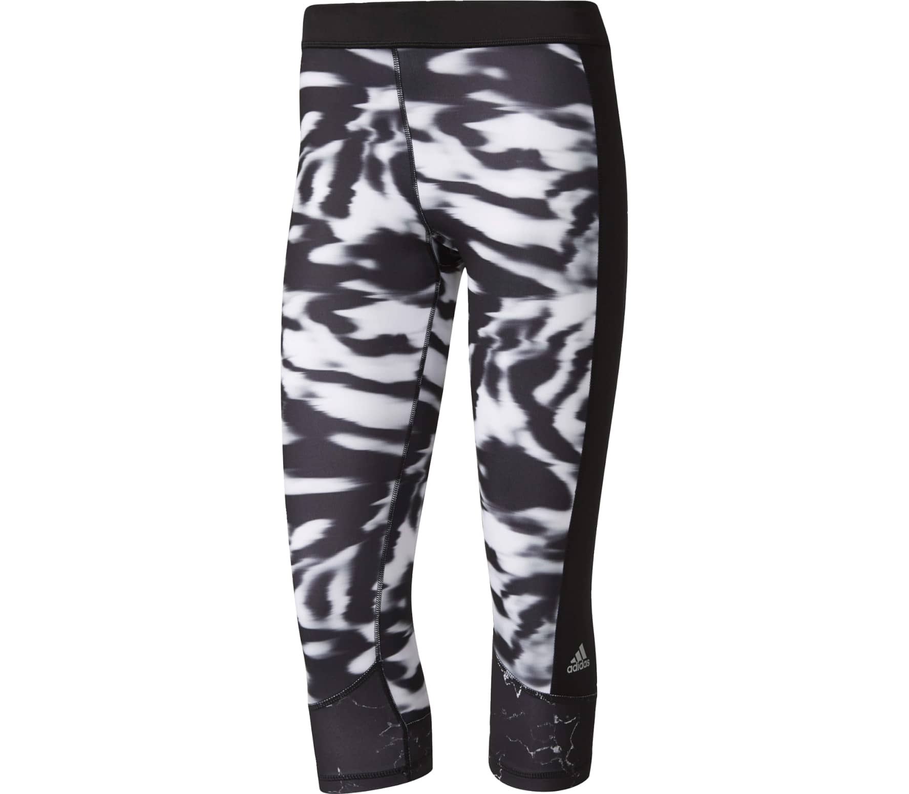 4e9ef8389d639 Adidas - Techfit capri pants Print 3 women's training pants (black/white)