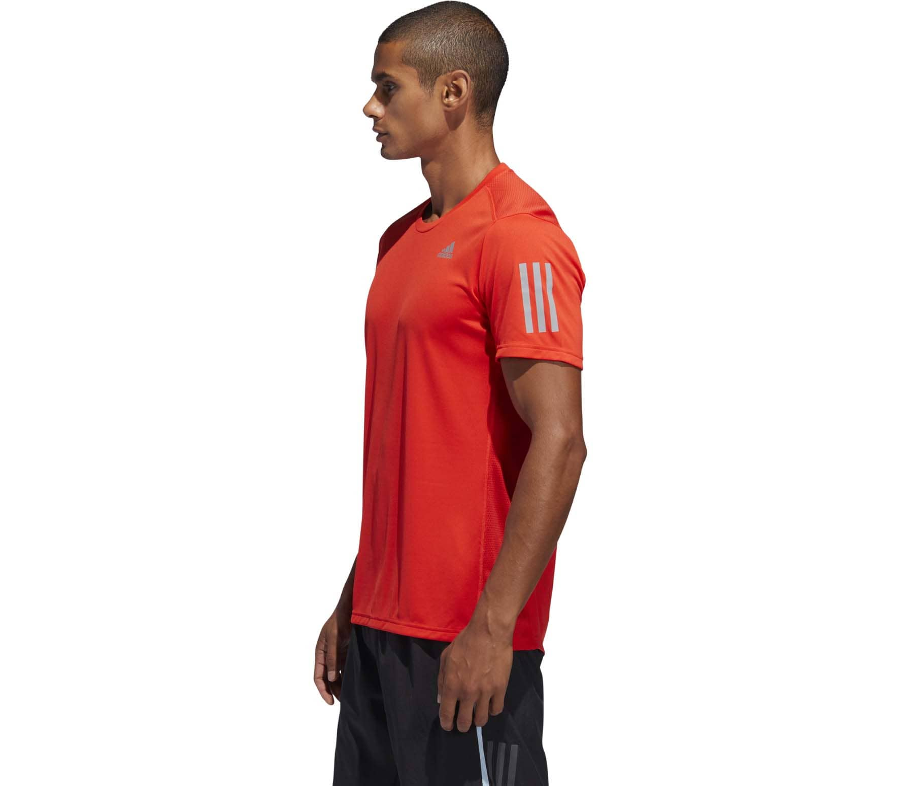 adidas - Own The Run Hommes chemise de course (rouge)