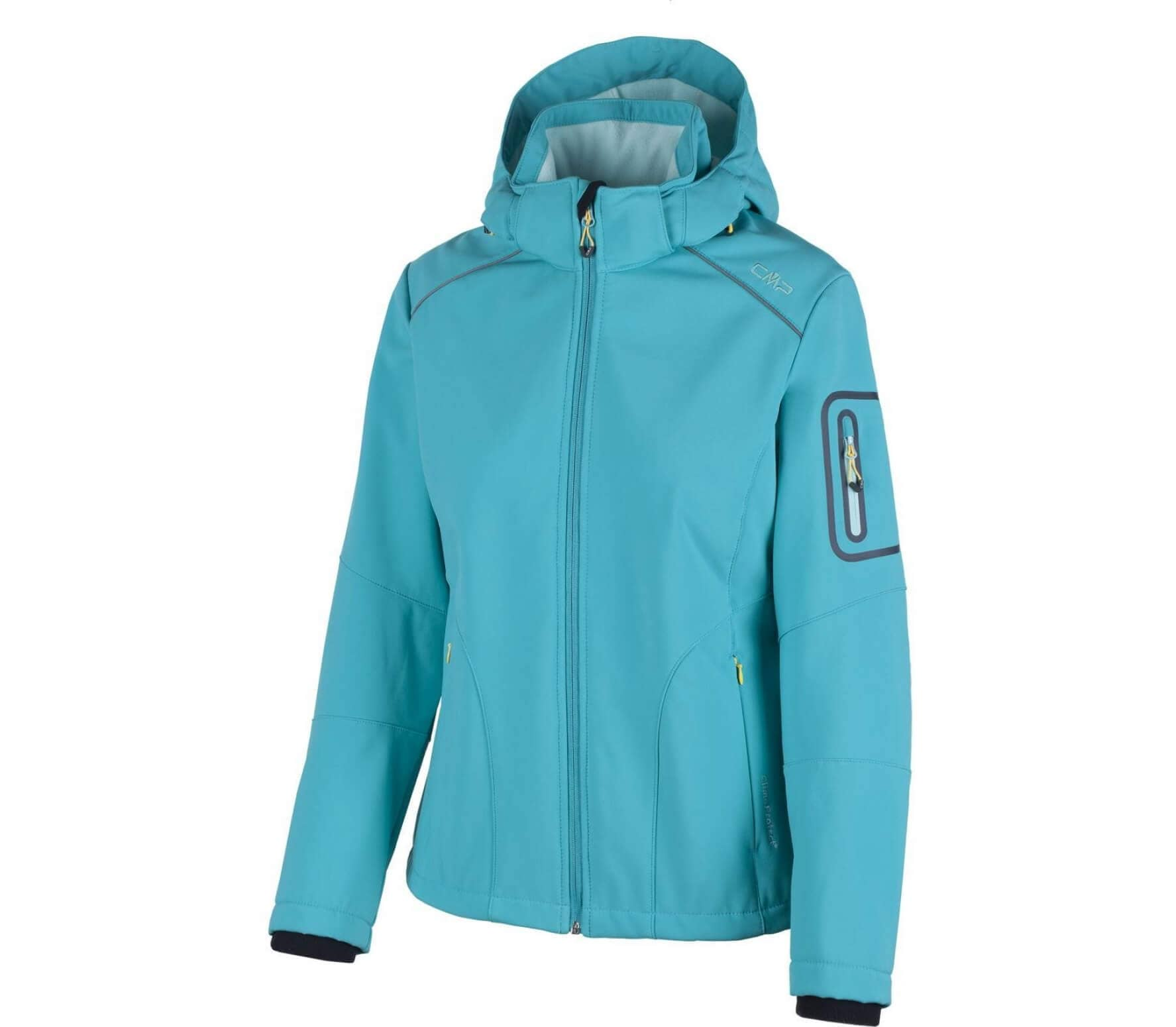 CMP - Zip Hood women s soft shell jacket (blue) - buy it at the ... 0ab73c36bf