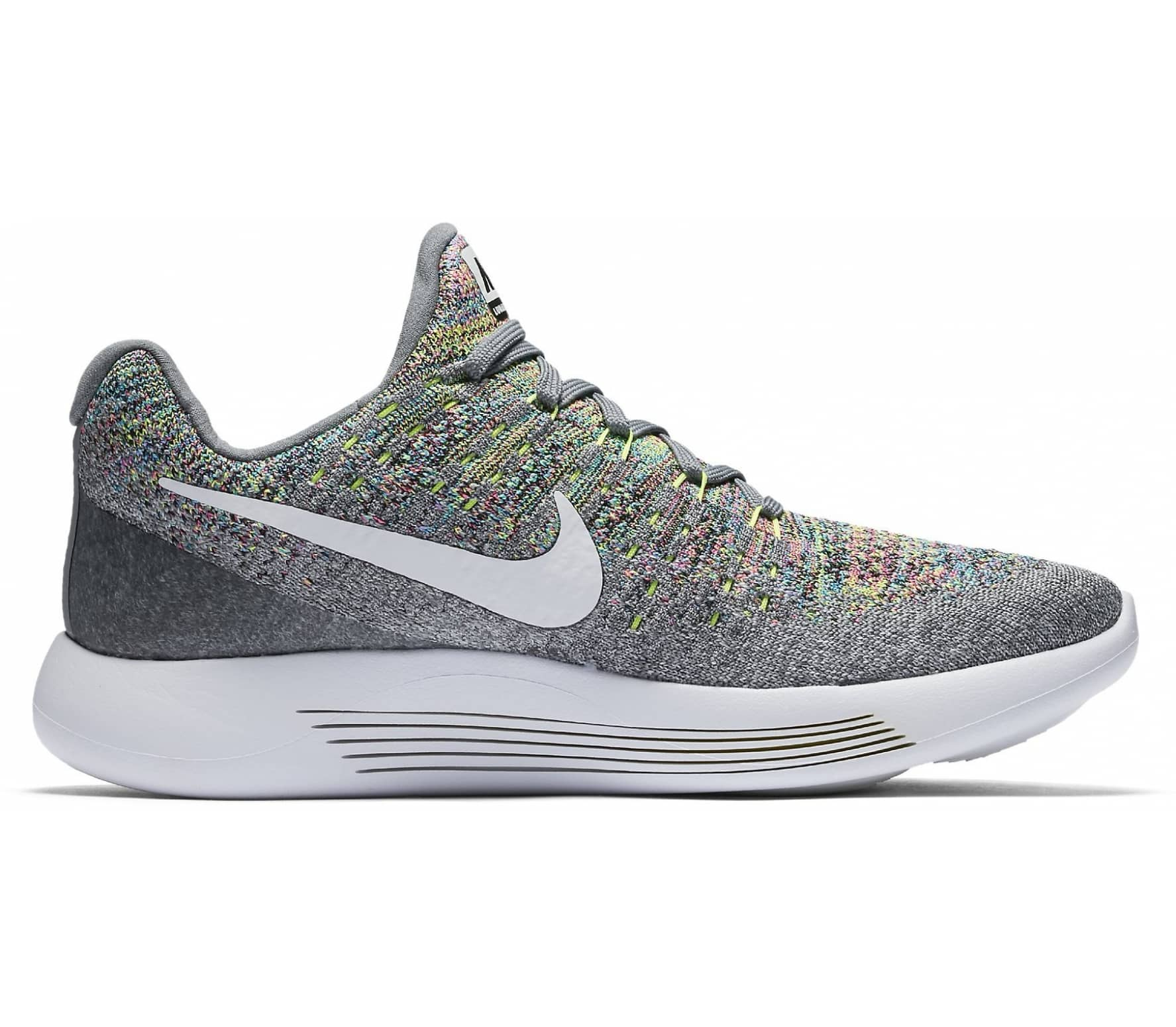 finest selection 3296c 8643f Nike - LunarEpic Low Flyknit 2 women s running shoes (grey yellow)