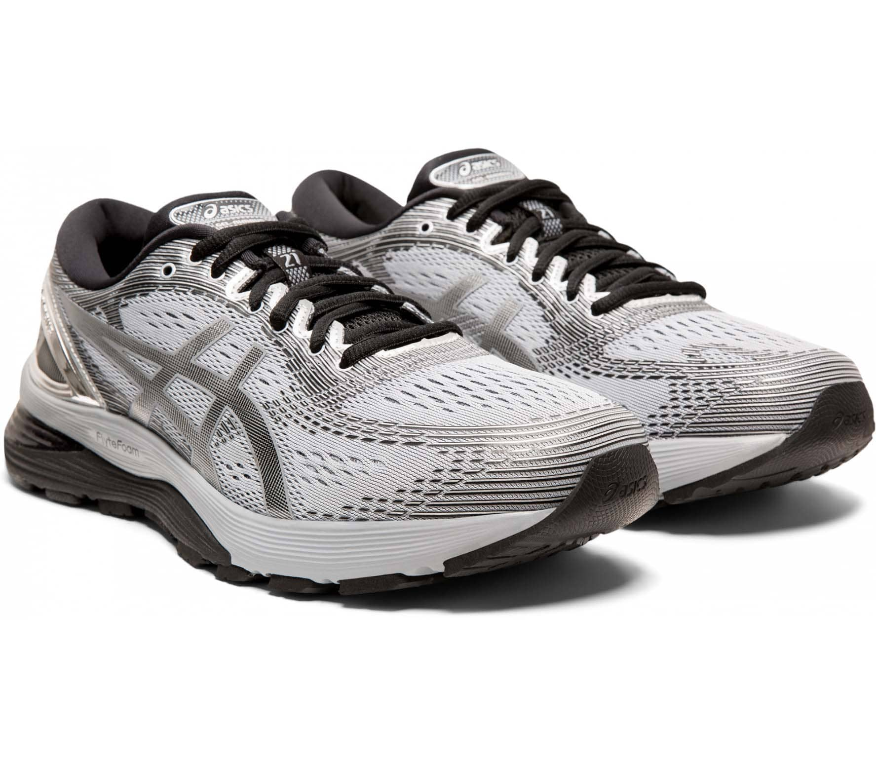 ASICS Gel-Nimbus 21 Platinum Men Running Shoes grey