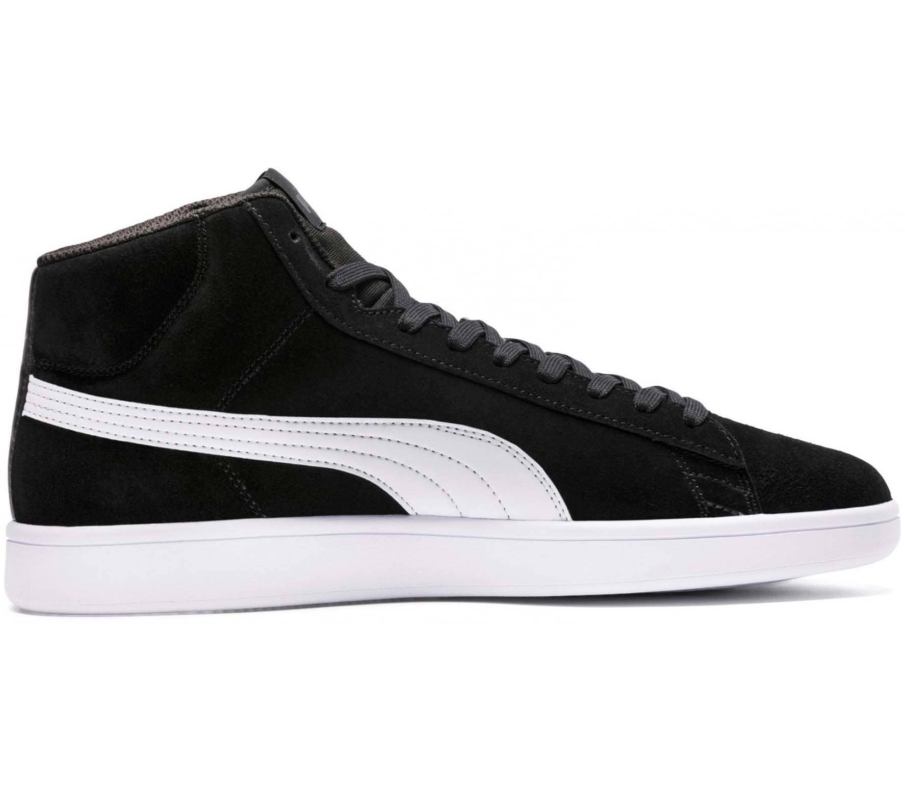 differently 3db6d 7f5f2 Puma Smash v2 Mid Suede Men Sneakers black