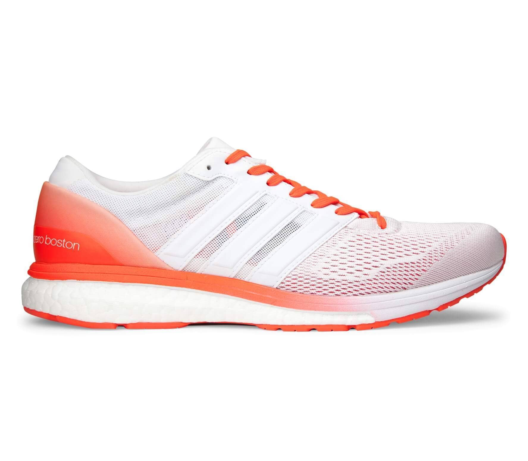 finest selection 5a807 1fa35 Adidas - adizero Boston 6 Hommes chaussure de course (blanc Orange)