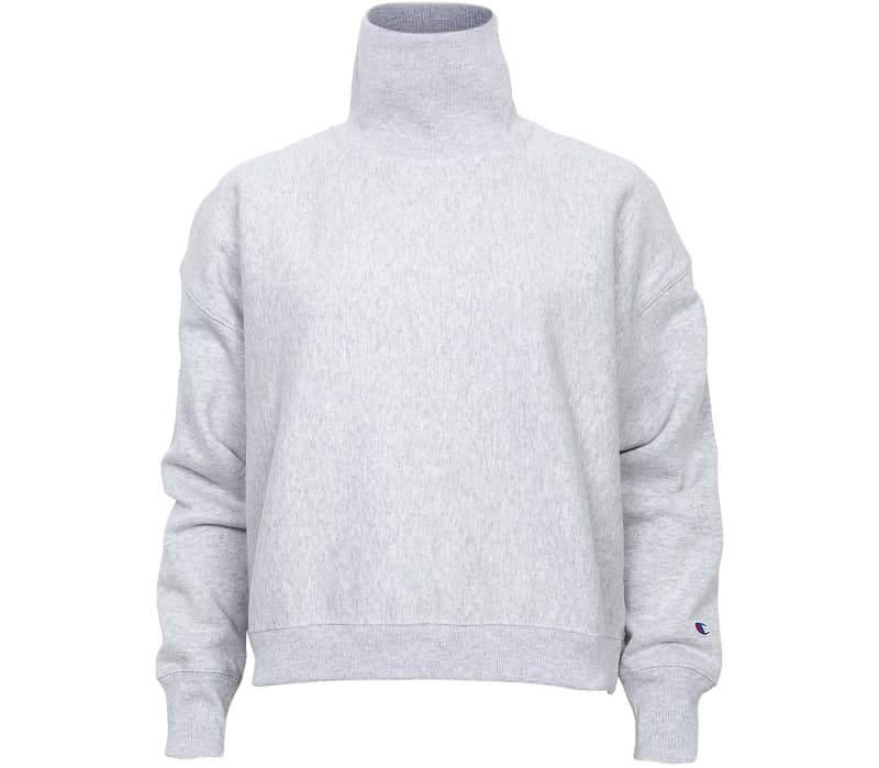 Reverse Weave Brushed Fleece High Neck Femmes Sweat
