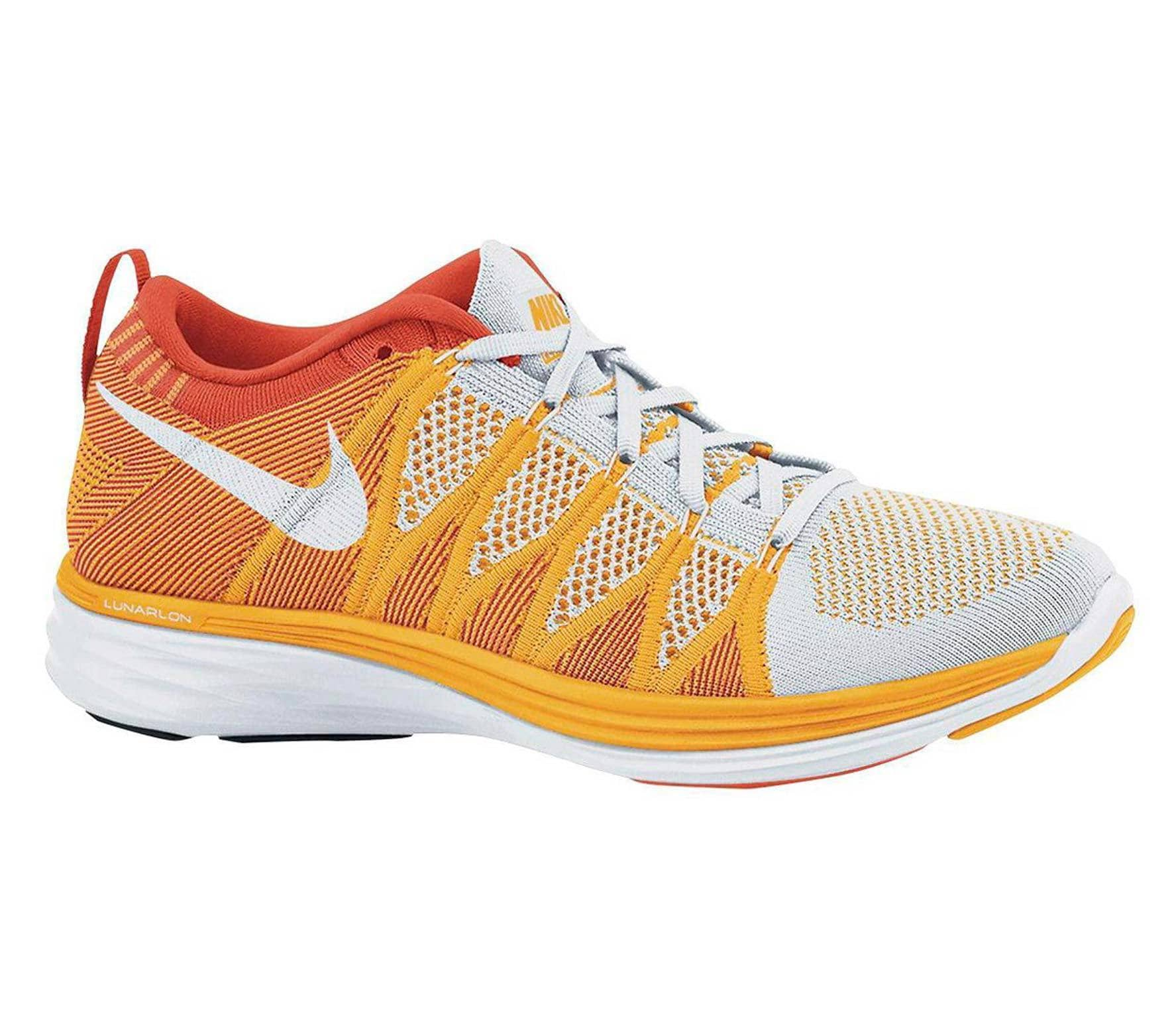 new products ea1a1 d2431 Nike - Flyknit Lunar 2 women s running shoes (white orange)