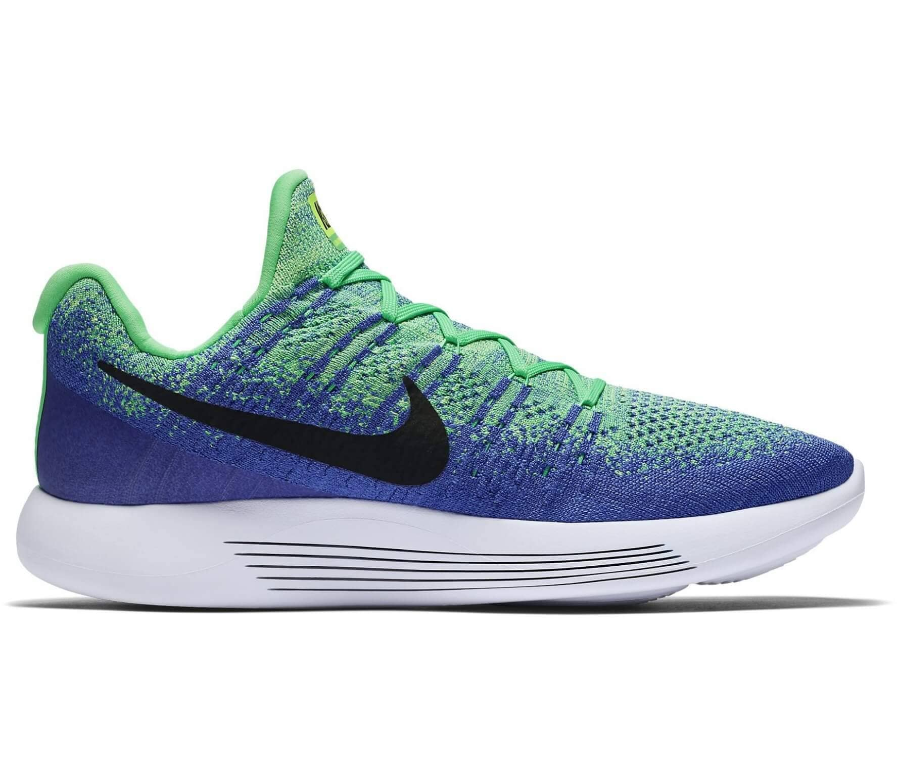 ee6239a61c07 Nike - Lunar Epic Low Flyknit 2 men s running shoes (green blue ...