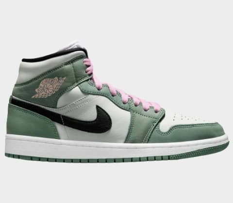 Air Jordan 1 Mid SE 'Dutch Green' Dam Sneakers