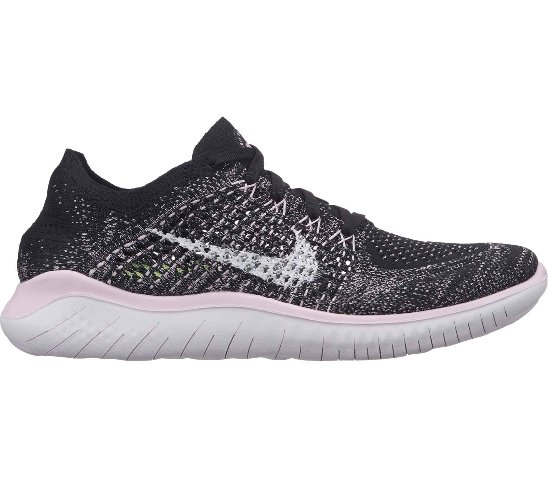 b1202674930630 Nike - Free RN Flyknit 2018 women s running shoes (black pink) - buy ...