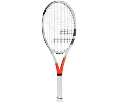 Babolat - Strike G strung tennis racket (white/red)