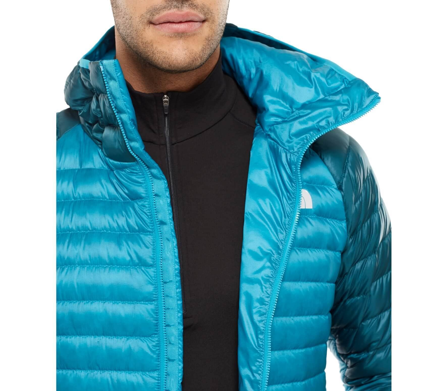 cd6cd263a5 ... reduced the north face quince pro hooded mens down jacket blue dark  green 3f2e6 65547