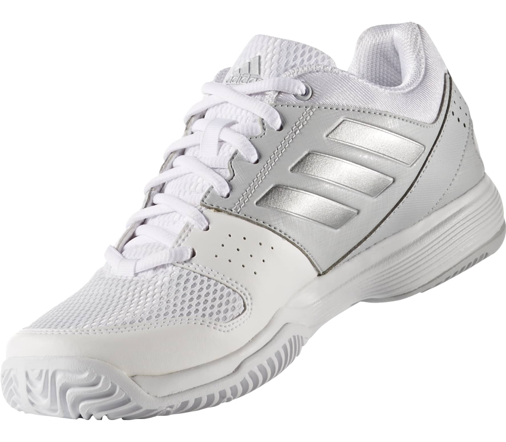 ec912767271 Adidas - Barricade Court women s tennis shoes (white silver) - buy ...