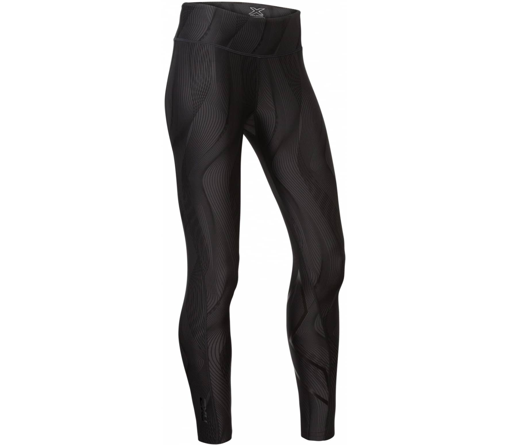 33680143 2xu Print Mid-Rise Compression Tights with Storage Women black - buy ...