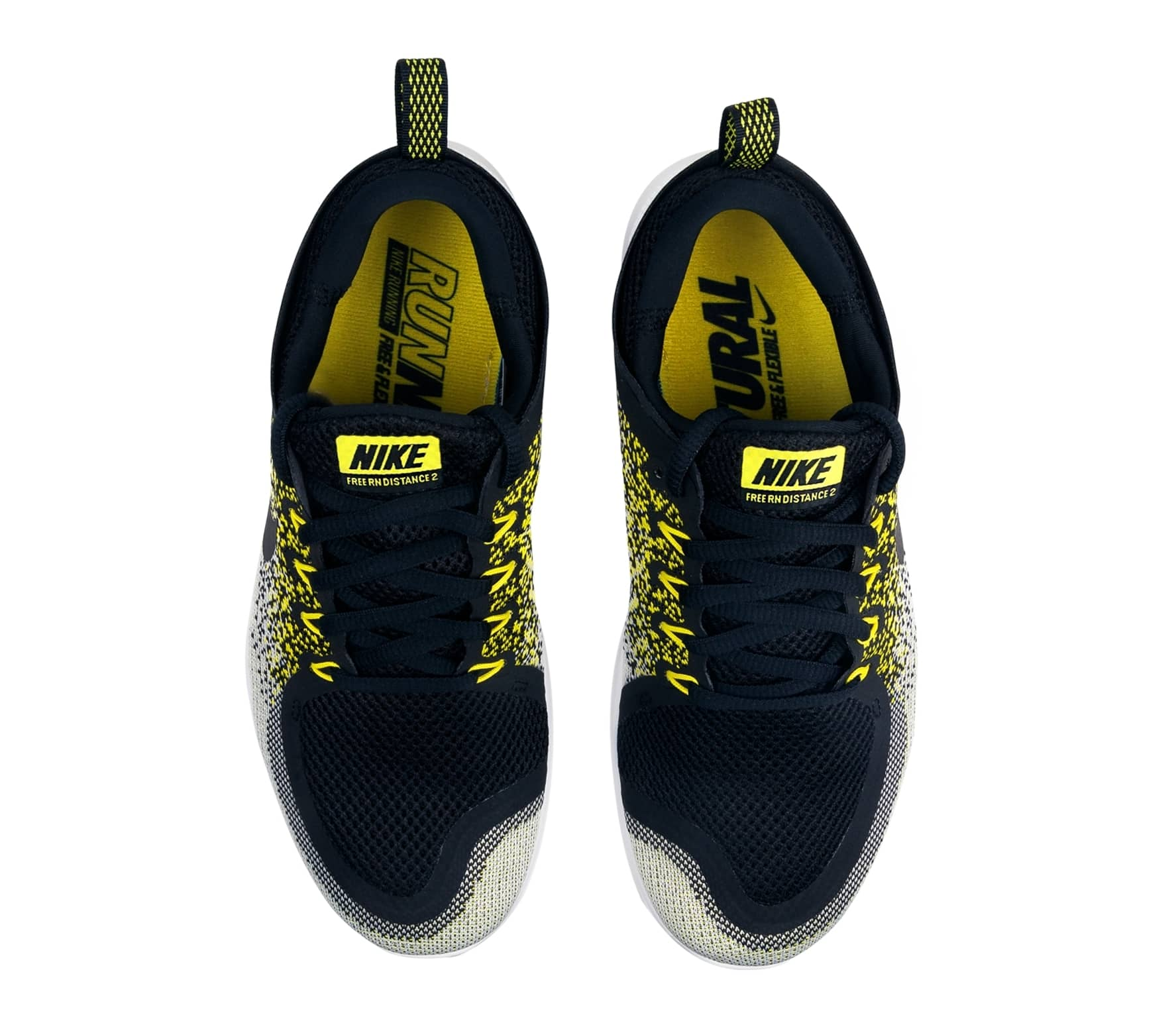 919a3ecb8ab1e Nike - Free RN Distance 2 BSTN women s running shoes (black yellow ...
