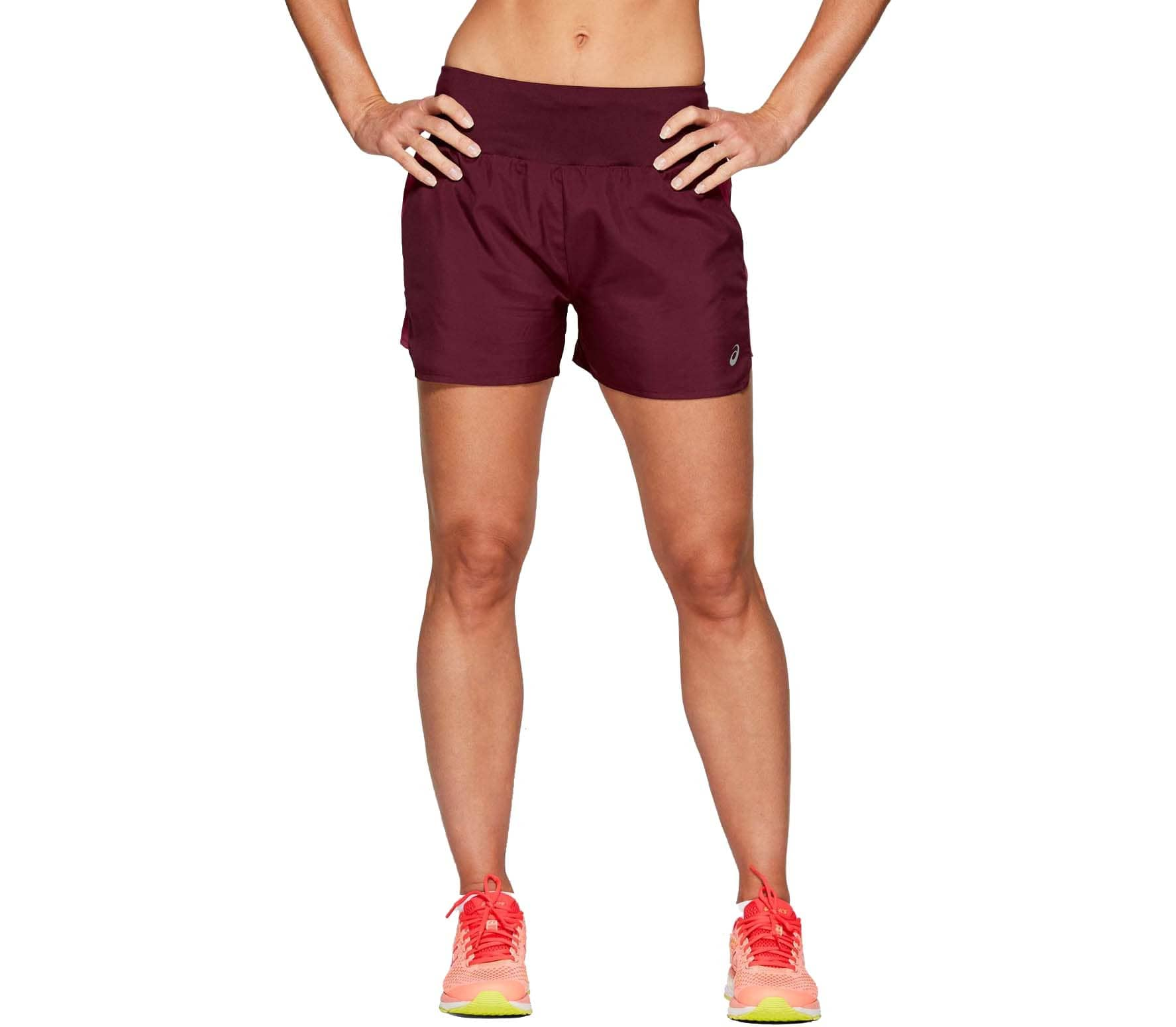 ASICS 3.5In Women Running Shorts red