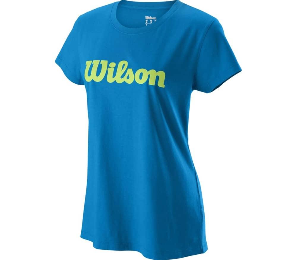 Script Cotton Tee Ii Damen Tennisshirt