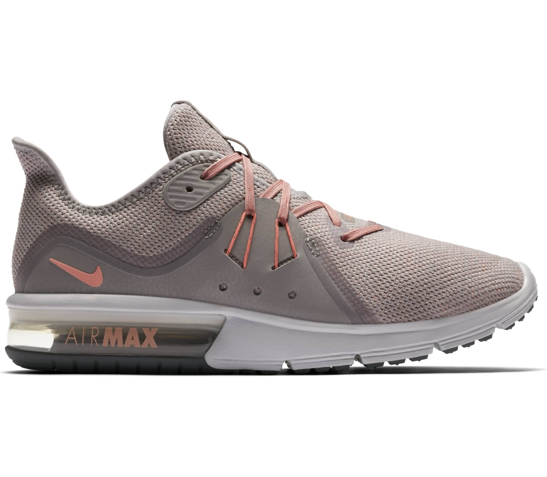 best website 9e4e4 499bb Nike - Air Max Sequent 3 women s running shoes (pink grey)