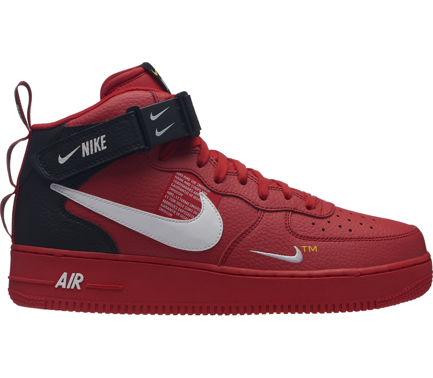 more photos 364d5 863cc Nike Sportswear - Air Force 1 Mid 07 LV8 heren sneakers (rood)