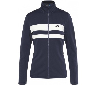 J.Lindeberg - Sitkin Striped Tech Damen Fleecejacke (blau)