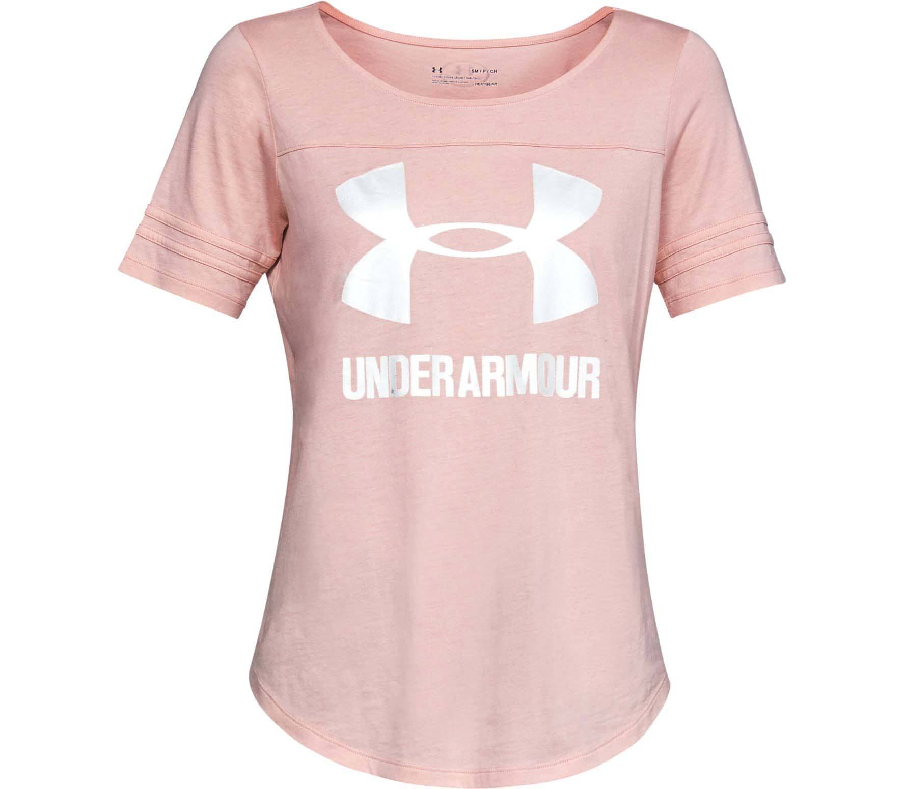 0f6d95d8dc0 Under Armour - Graphic Baseball Mujer camiseta de entrenamiento (rosado)