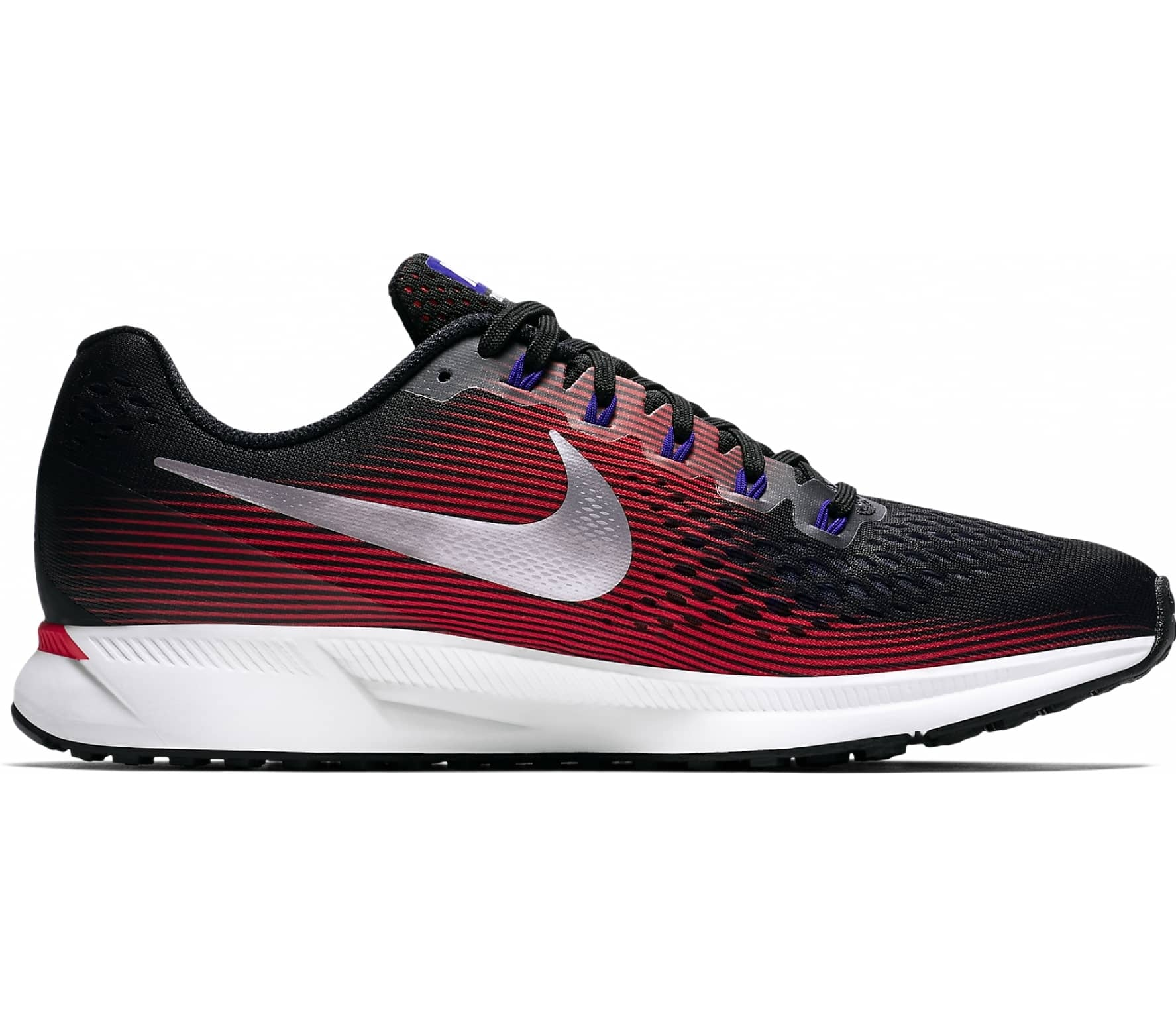 nike air zoom pegasus 34 herren laufschuh schwarz rot. Black Bedroom Furniture Sets. Home Design Ideas