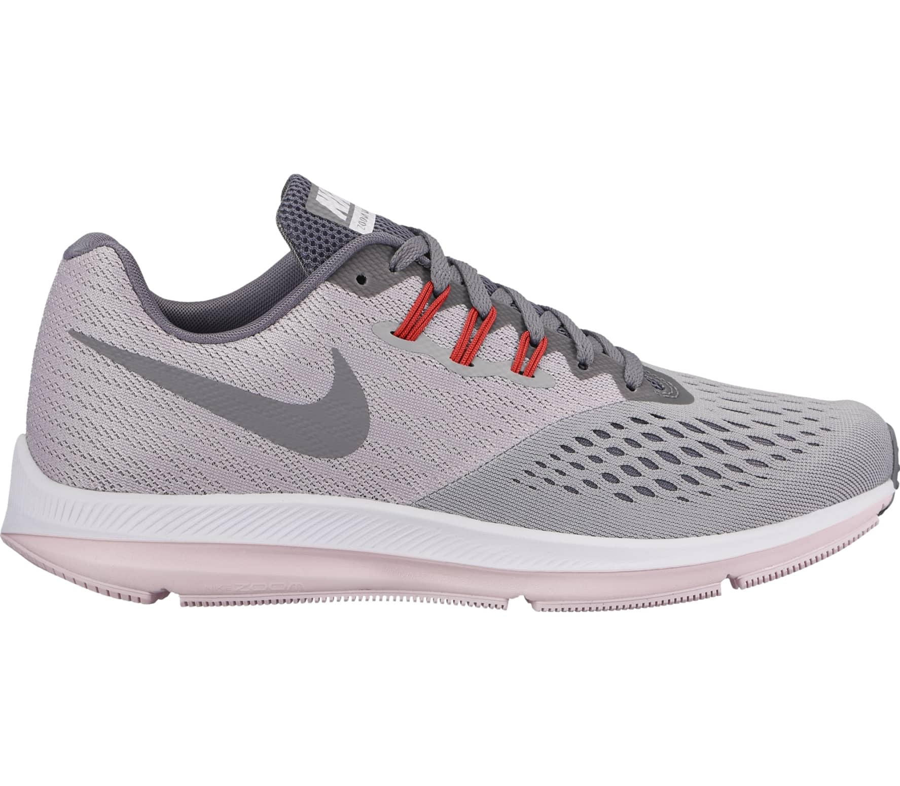 92b6f210ec7a5 Nike - Air Zoom Winflo 4 women s running shoes (light grey pink ...