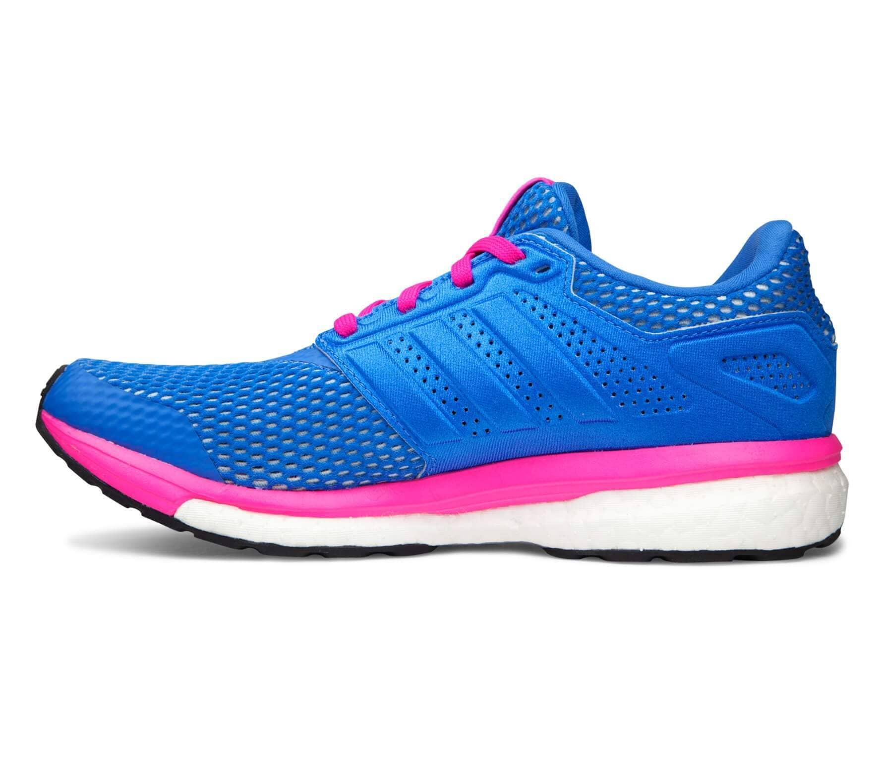 2da90bfdc Adidas - Supernova Glide Boost 8 Chill women s running shoes (blue pink)