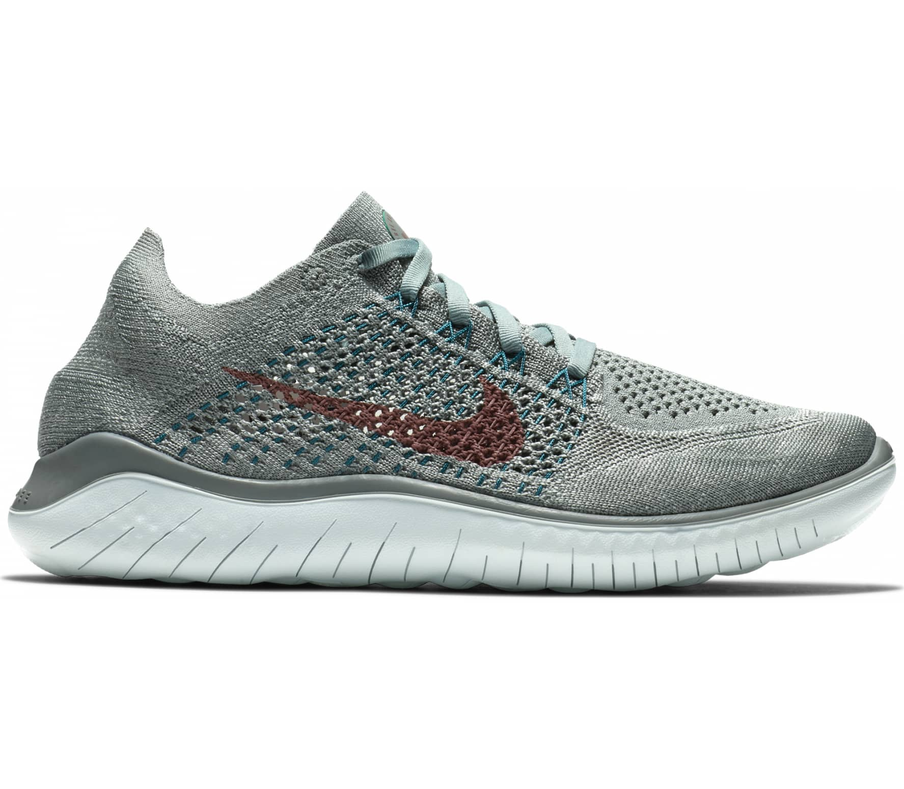 new styles 9e9ef f2630 Nike - Free RN Flyknit 2018 womens running shoes (grey)